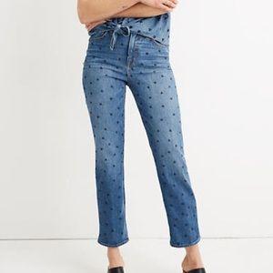 Madewell | NWT Classic Straight Jean heart print